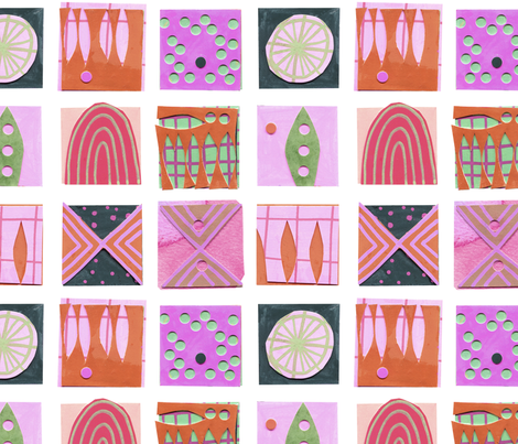 9 Squares Pink fabric by zoe_ingram on Spoonflower - custom fabric