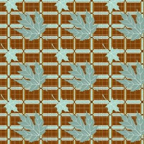 Basic Blue Leaf Plaid