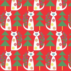 Swedish Folk Cats_hot red