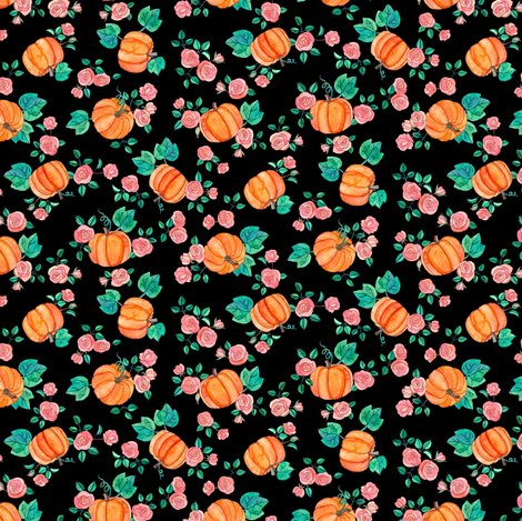 Rpumpkins_and_roses_multi_directional_black_shop_preview
