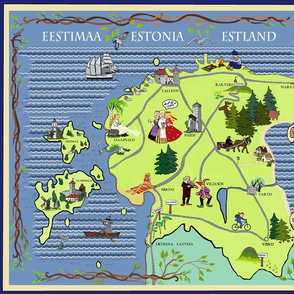 Estonian Illustrated Map