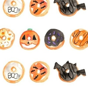 Halloween Donuts Watercolor