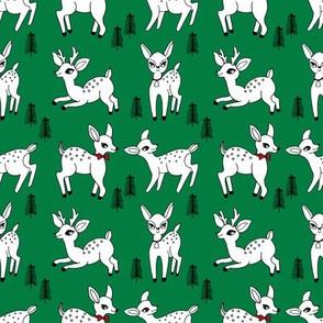 Reindeer christmas deer pattern green