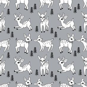 Reindeer christmas deer pattern grey 2