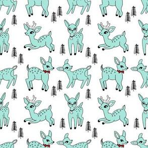 Reindeer christmas deer pattern mint