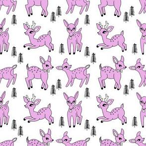 Reindeer christmas deer pattern pastel purple