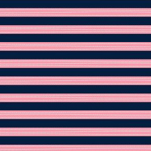 Stripes - Navy + Pink, Sweet Magnolia Collection