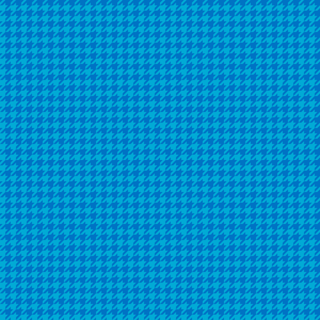 mini houndstooth royal (0073C5) and turquoise  (00AAD4) fabric by mirabelleprint on Spoonflower - custom fabric
