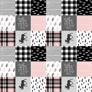 "3"" small scale - Fearfully and Wonderfully Made (90) - Moose Wholecloth (Pink, Grey, Black)"