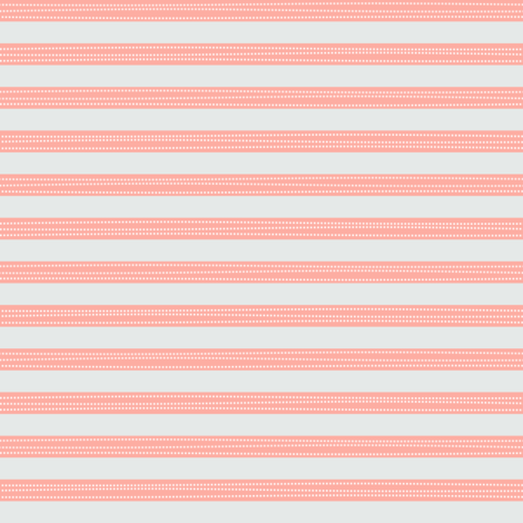 Stripes - Peach + Soft Gray - Georgia Collection fabric by gingerlous on Spoonflower - custom fabric