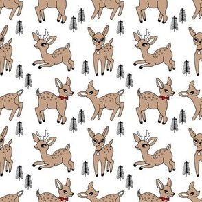 Reindeer christmas deer pattern  white