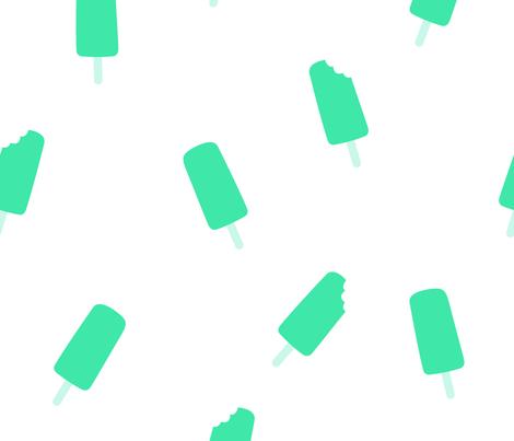 ice pop turquoise big fabric by dafnag on Spoonflower - custom fabric
