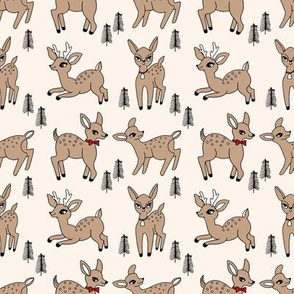 Reindeer christmas deer pattern light