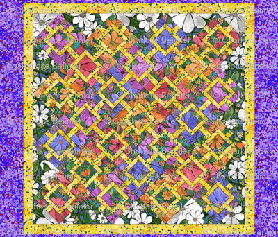 Garden Path Cheater Quilt