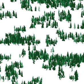 Tree Grove in green