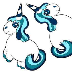 blue unicorn - small plushie