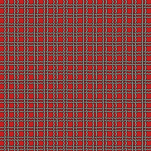 squiggle plaid - red