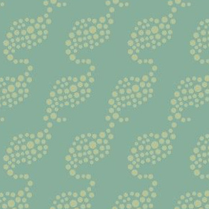 Abstract wave dots spots || Mid-century modern green gold ocean water _ Miss Chiff Designs