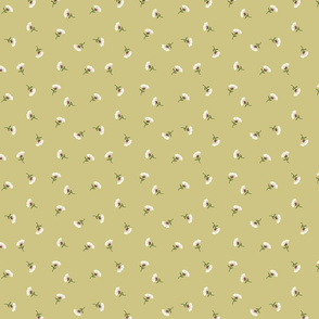 Floral Beauty Small Yellow Green