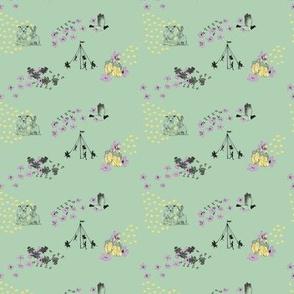 Silvercap's Waldorf Spring Fabric