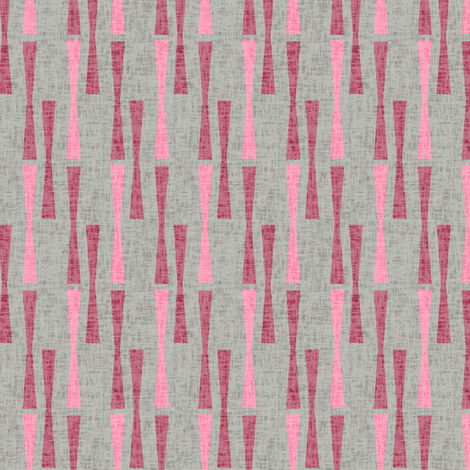 Mid-century Modern Abstract Valentine || Pink red Gray Grey Texture Linen geometric dots  _ Miss Chiff Designs  fabric by misschiffdesigns on Spoonflower - custom fabric