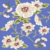 Modern Stylized Flowers Periwinkle Blue
