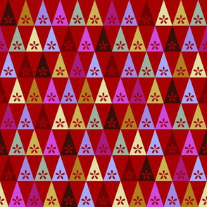 Carnival Flower Triangles - Red