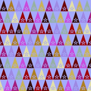 Carnival Flower Triangles - Periwinkle