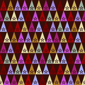Carnival Flower Triangles - Dark