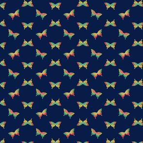 Japanese Butterflies on Indigo