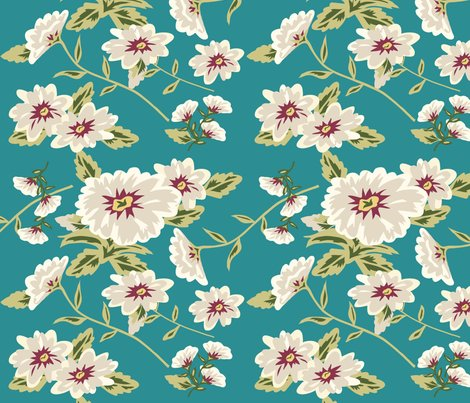 Rrmodern_stylized_flowers_teal_green_shop_preview