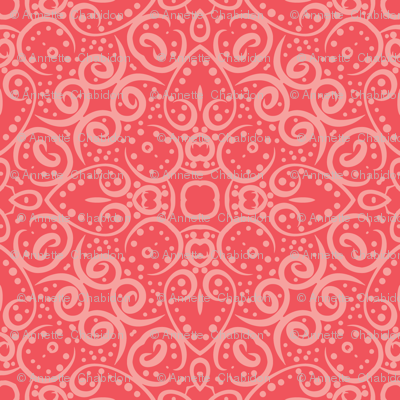 Coral Shells Scroll Tile