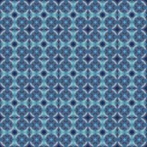 Sapphire Kaleidoscope Boho Pattern