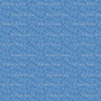 Memphis Style Blue Confetti