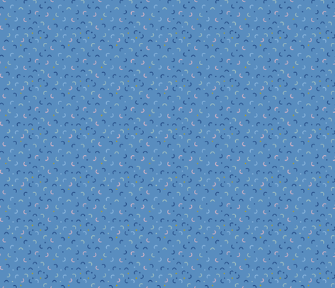 Memphis Style Blue Confetti fabric by studio_textura on Spoonflower - custom fabric