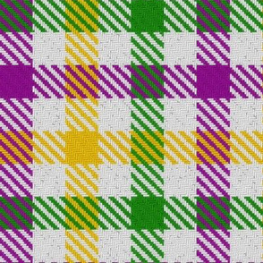 Mardi Gras Tri-Color Gingham