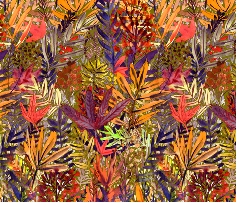 golden_Fall_spoonflower_lila_2 fabric by rebecca_reck_art on Spoonflower - custom fabric