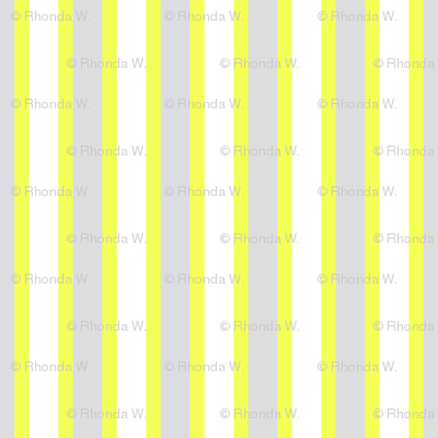 Cosy Kitchens Vertical Stripes  - Narrow Lemon Frosting Ribbons with Snowy White and Silver Mist - Small Scale