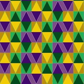 Mardi Gras Diamond Zigzag