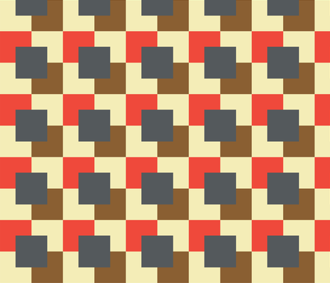 Coloured_Square_Pattern fabric by lesleybishop on Spoonflower - custom fabric