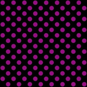Black + Polka Purple Dots