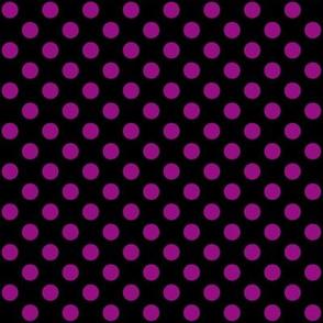 Black + Polka Purple Dots