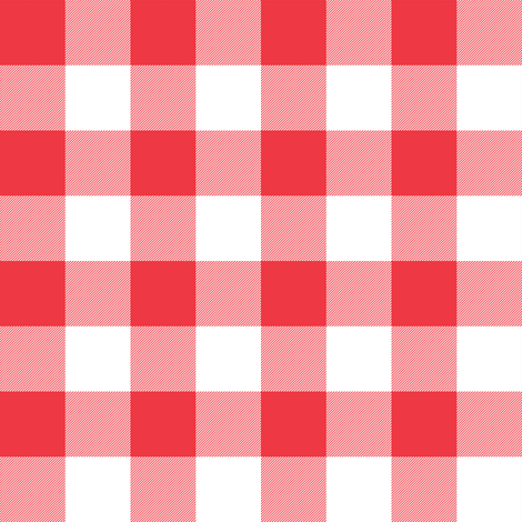 one-inch strawberry gingham check fabric by weavingmajor on Spoonflower - custom fabric