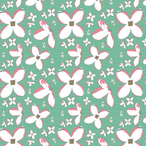 White Lilacs on Pastel Green Upholstery Fabric