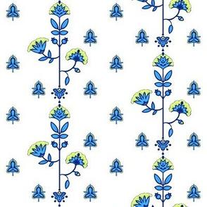 Simple Blue Floral