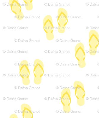 yellow flip flops-small