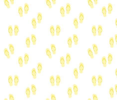 yellow flip flops-small fabric by dafnag on Spoonflower - custom fabric
