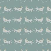 Spikey Birds - Green