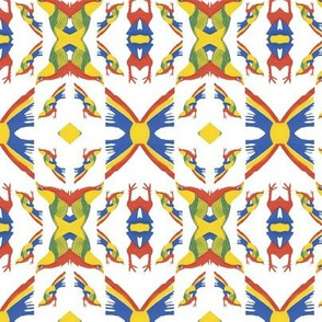 Tribal Pattern Yellow Bird