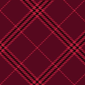 Red and Black Diagonal Paid
